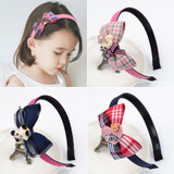 Korean children's headband hair accessories bows with teeth non-slip princess headband girls hair clips little girl head jewelry