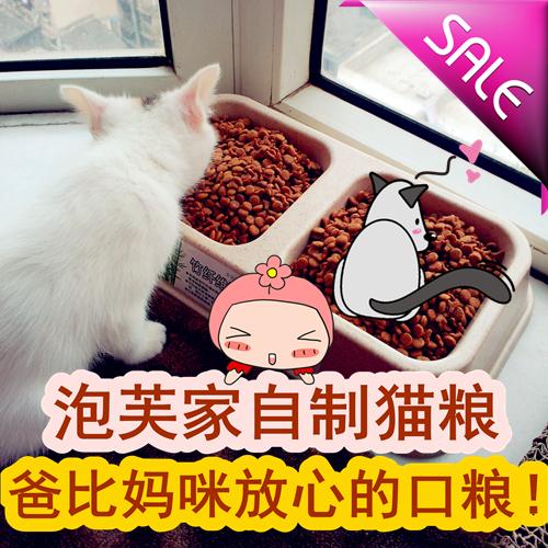 泡芙家.手工自制猫粮天然猫粮食500克牛肉味成年猫幼猫宠物口粮