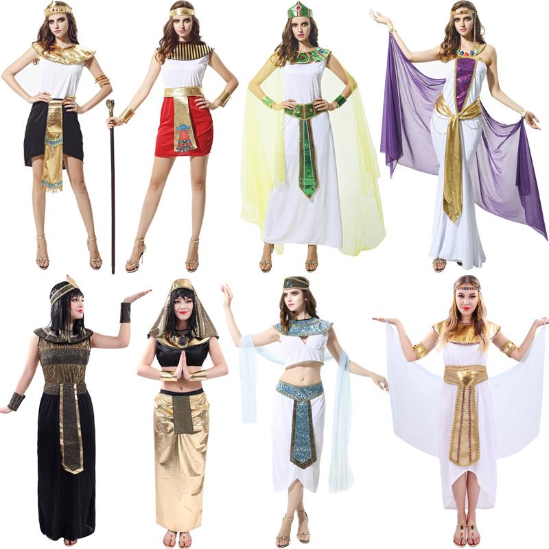 万圣节服装成人女埃及艳后服饰阿拉伯衣服cosplayl化装舞会演出服