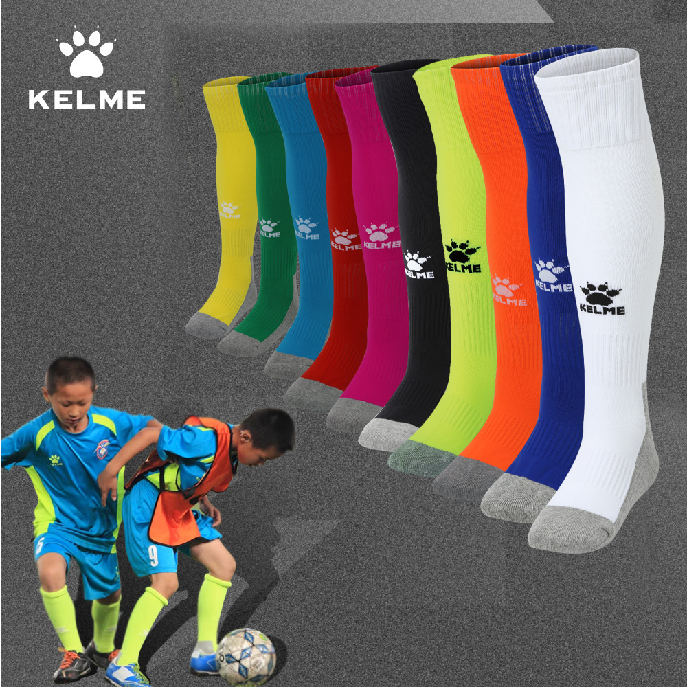 卡尔美儿童足球袜子长筒袜男童过膝夏季毛巾底女童防滑足球训练袜【图2】