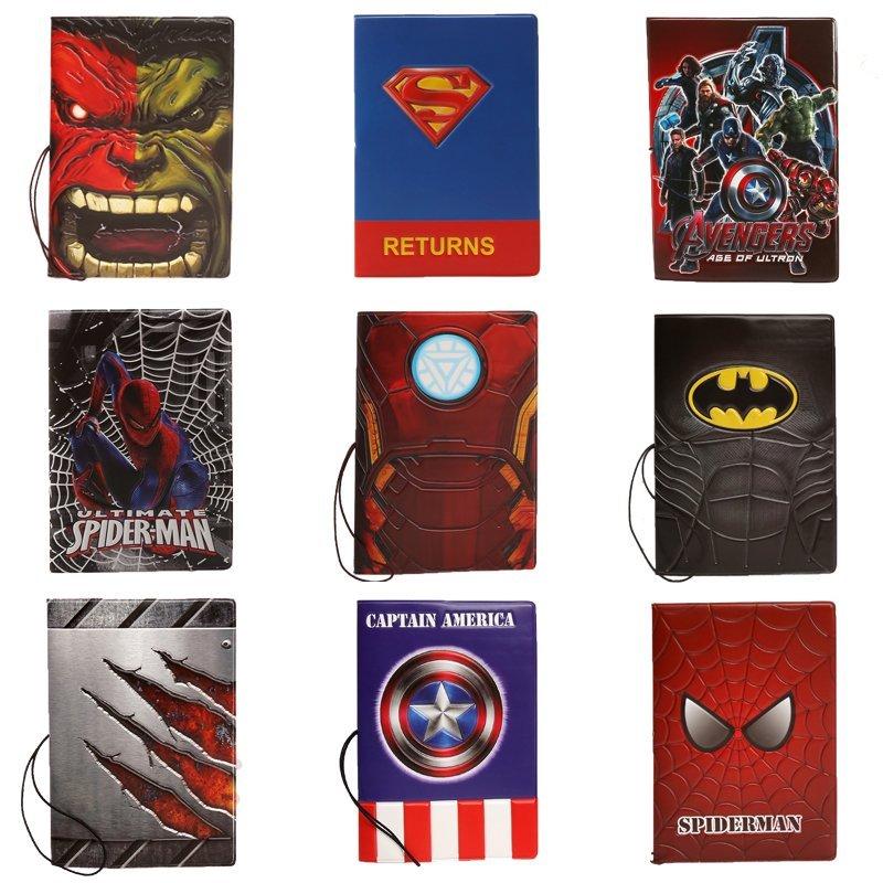 威漫超級英雄卡通護照套鋼鐵俠蝙蝠俠蜘蛛俠護照夾包創意3D證件包