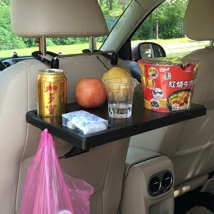 车用椅背餐台车载餐桌 汽车电脑桌笔记本台零食放置小饭桌旅行用