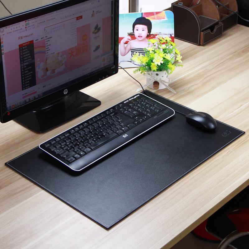 雅皮仕 黑咖双色皮革写字板 案台 大班台 商务办公桌垫板 书桌垫