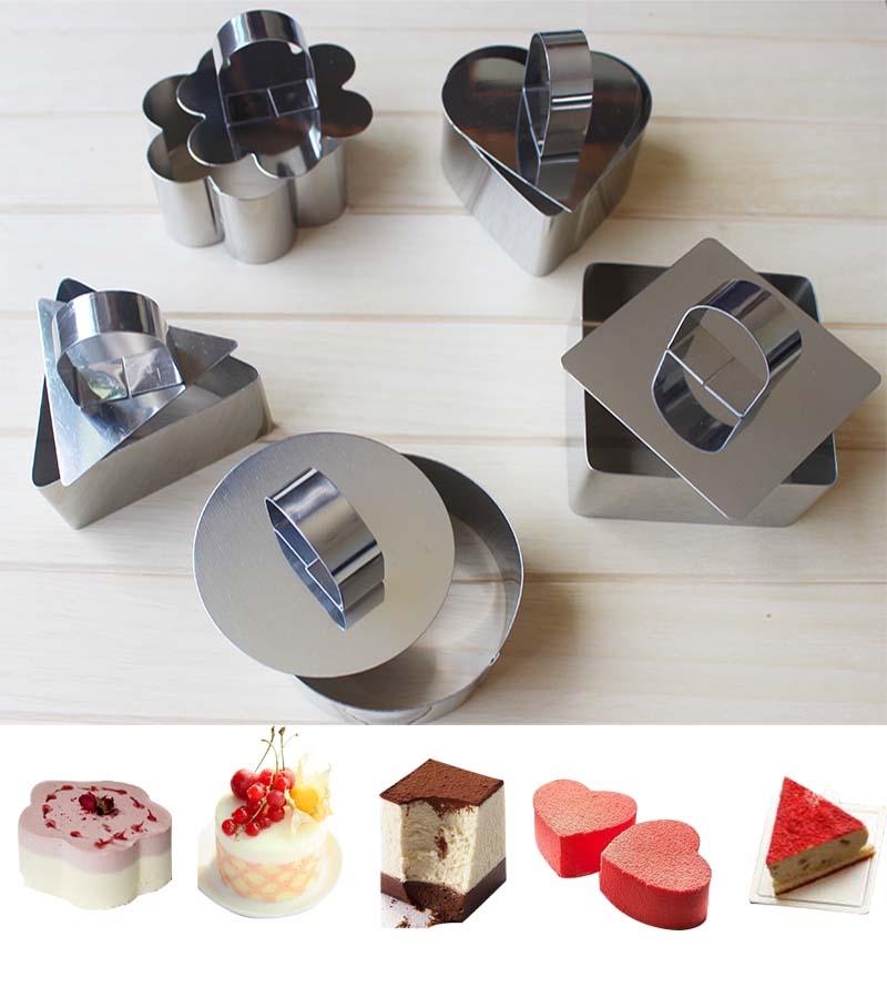 不鏽鋼小慕斯圈 提拉米蘇 芝士蛋糕模餅乾切模具 方心形烘焙工具