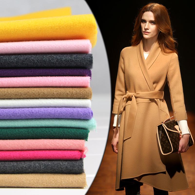 毛呢布料面料羊絨加厚秋冬服裝大衣外套裙子仿羊毛雙面尼呢子布料