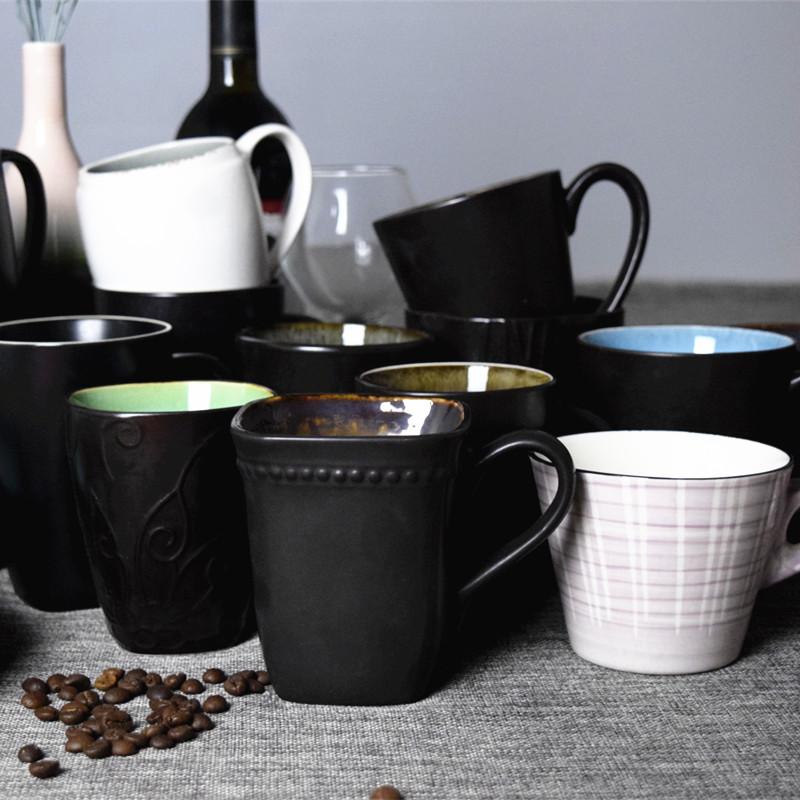 經典創意馬克杯大容量簡約冰裂釉陶瓷杯子牛奶咖啡杯家用水茶杯子
