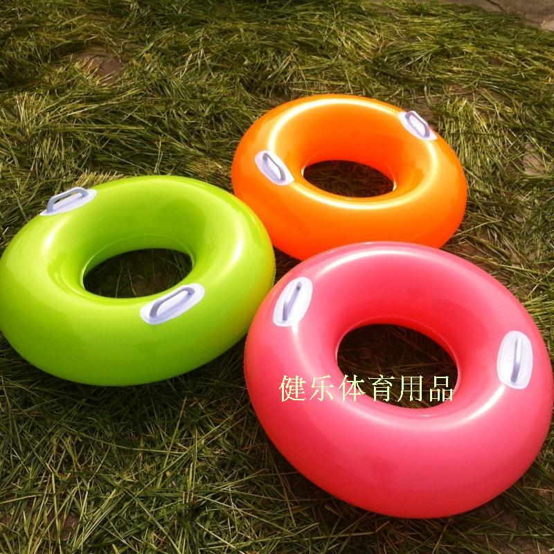 包郵INTEX素色把手兒童游泳圈 大童坐圈游泳圈 加厚泳圈送氣筒