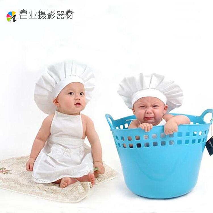 新款兒童攝影服裝影樓嬰兒寶寶百天拍照寫真服飾兒童小廚師服飾