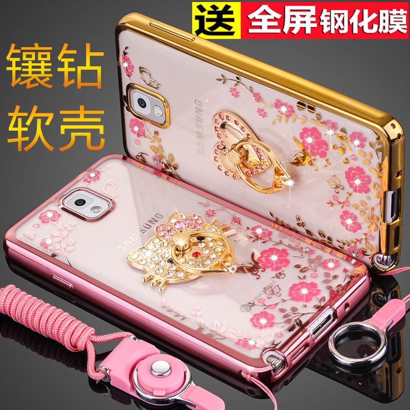 三星Note3手機殼SM-N9006掛繩保護矽膠套N9008v防摔N9009軟殼女鑽