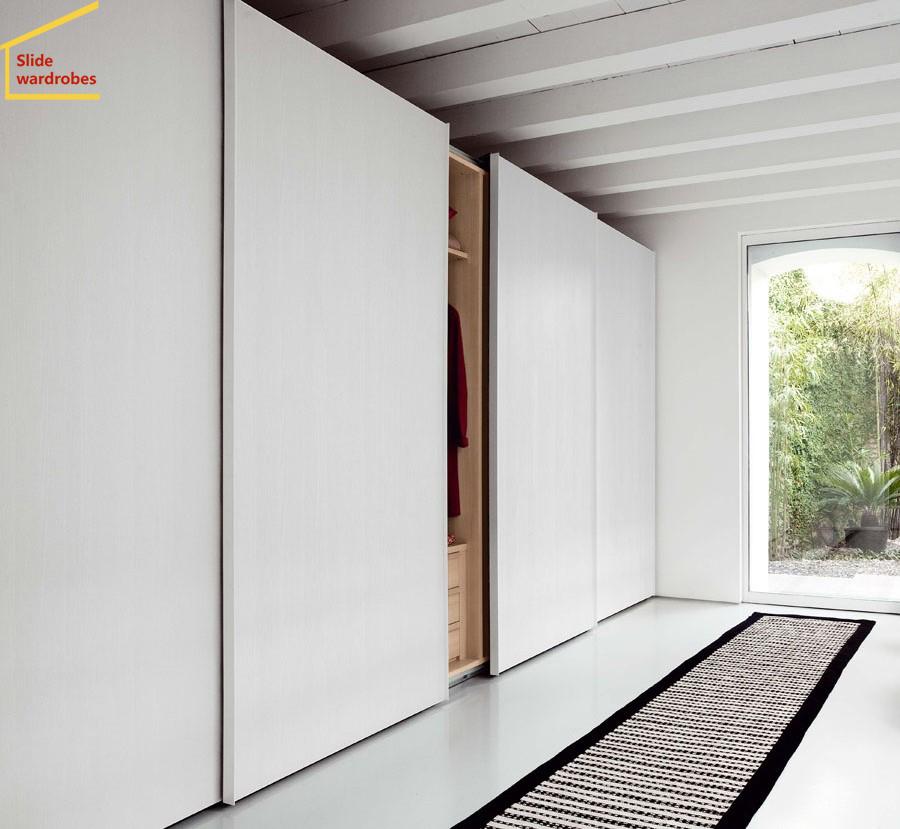 定製現代簡約移門衣櫃推拉門衣櫃定做整體衣帽間板式木質衣櫥E0級