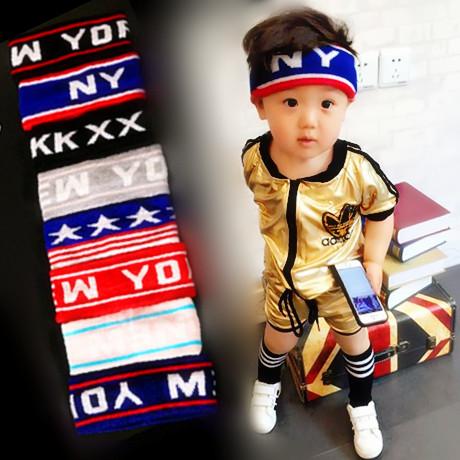 童裝嬰幼兒兒童寶寶小童女童男童運動頭帶髮帶時尚頭巾頭簪髮簪潮