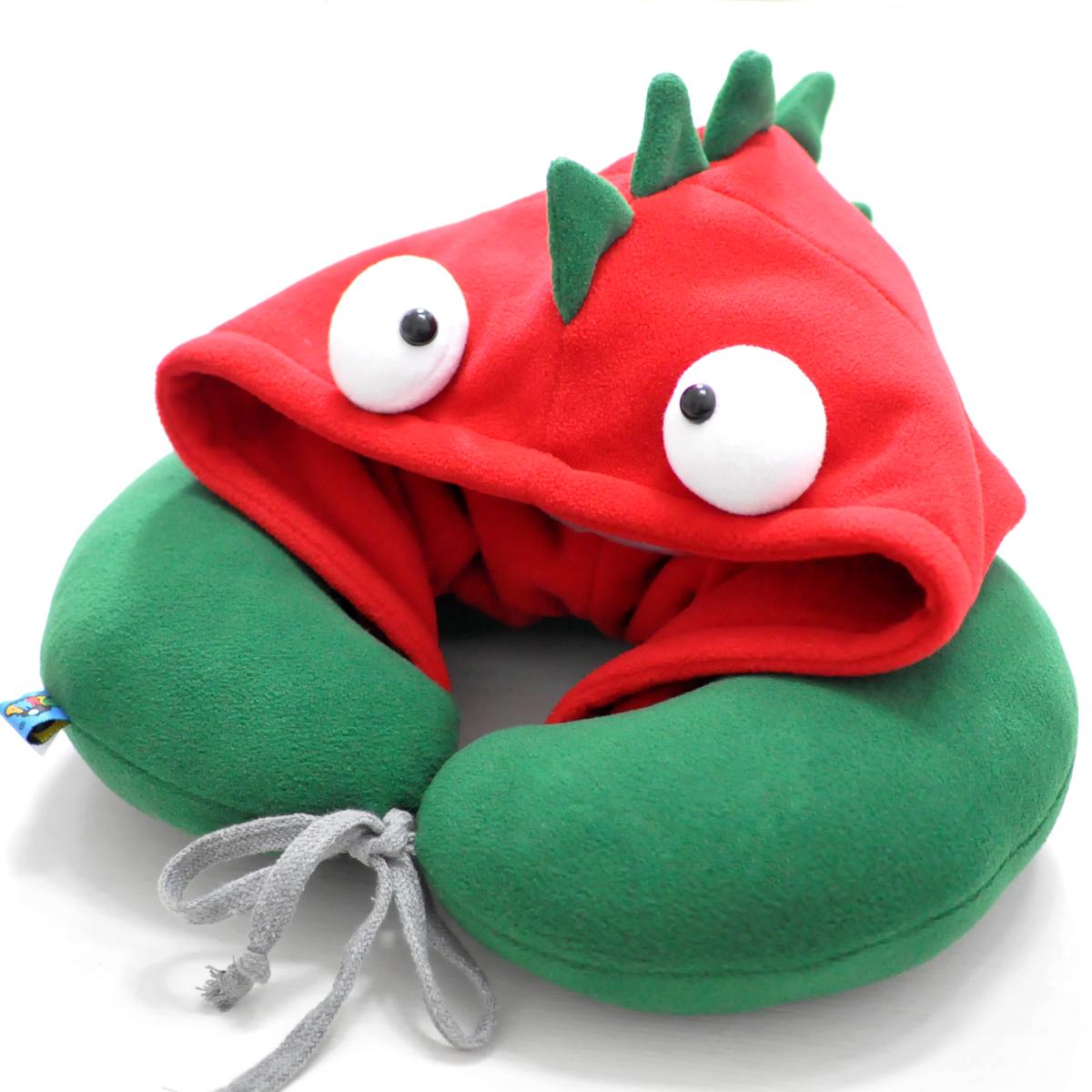 PLUMO皮洛姆萌可愛連帽U型枕卡通護頸枕午睡旅行枕頭枕繽紛葡萄牙