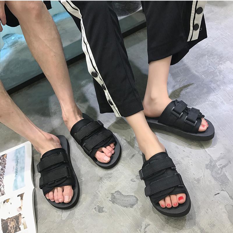 网红拖鞋男时尚外穿韩版一字拖情侣室外夏2019新款沙滩防滑凉鞋潮