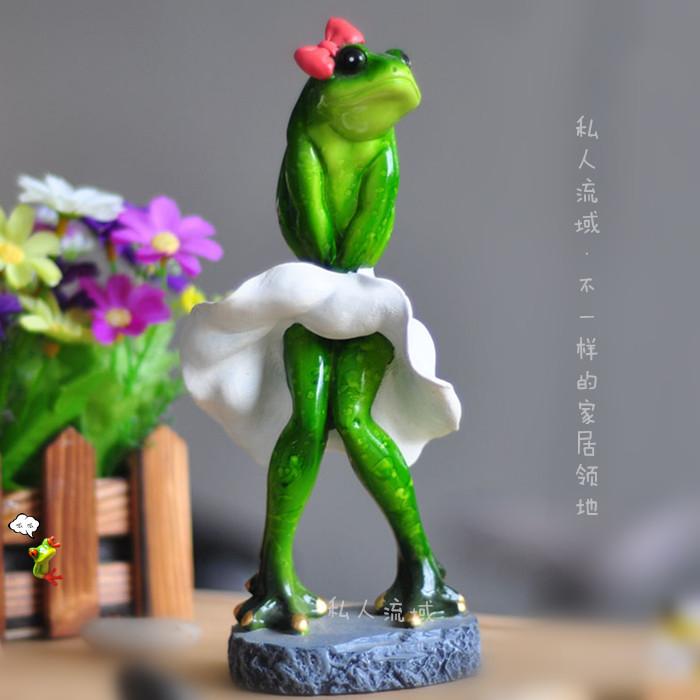 經典夢露客廳裝飾品擺件創意個性青蛙家居工藝品節操蛙男女生禮物
