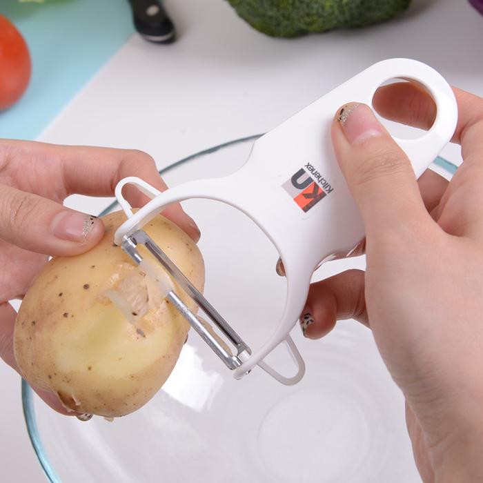 日本LEC廚具 多功能削皮器不鏽鋼水果刀 土豆去皮器黃瓜刨刀刨子