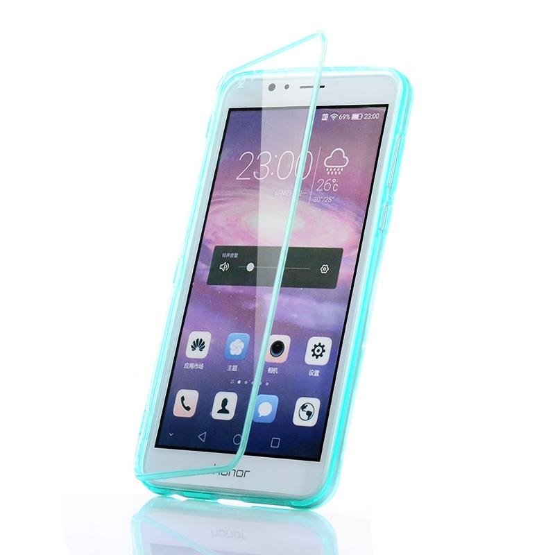 UMGG華為榮耀8手機殼榮耀8手機保護殼套矽膠翻蓋全包防摔前後保護套外殼軟透明皮套