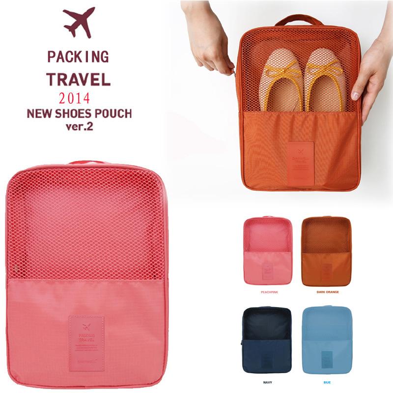旅行鞋子收納袋收納包摺疊行動式三雙裝旅遊鞋袋鞋盒多功能鞋包