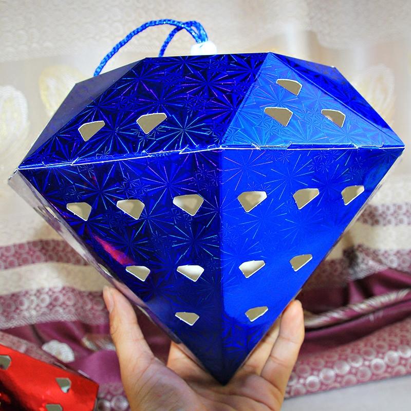 圣诞节商场学校珠宝黄金手机店开业店庆装饰用品钻石吊球挂饰挂件