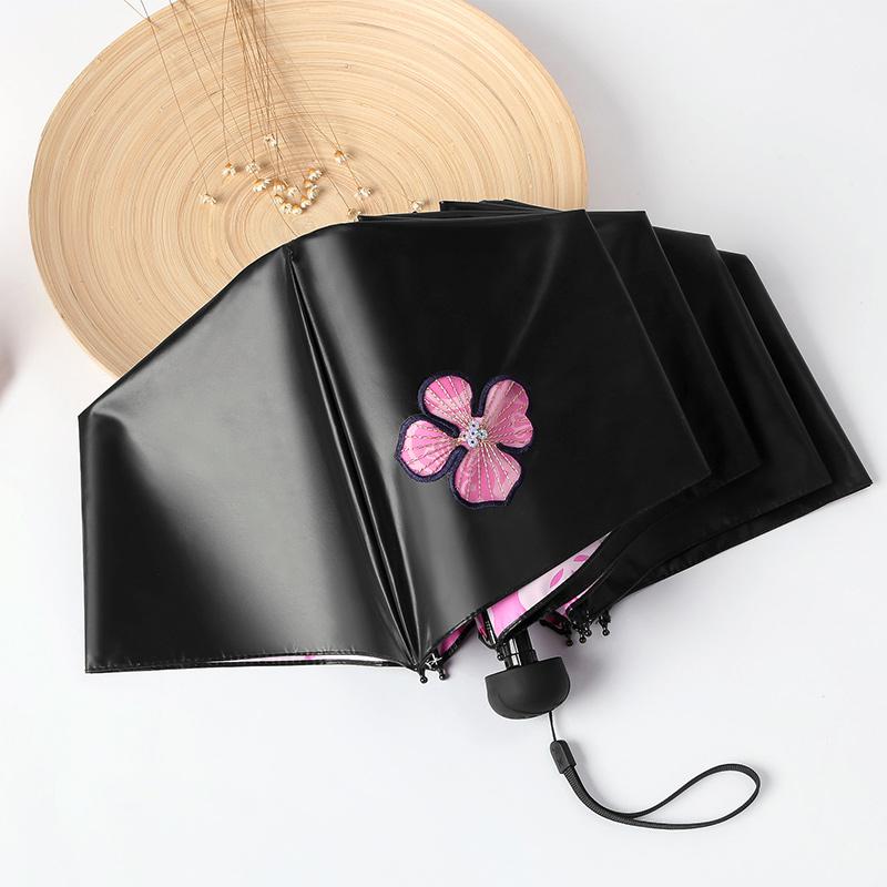 天堂伞防晒防紫外线遮阳伞女太阳伞学生黑胶小清新两用晴雨伞折叠