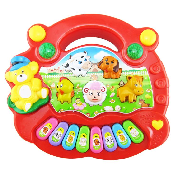婴儿玩具琴0-1岁宝宝玩具音乐琴动物农场电子琴儿童益智早教包邮
