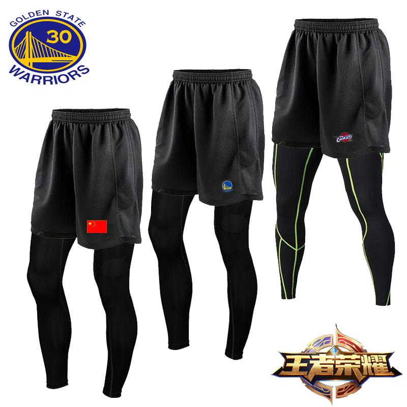 夏季薄款運動長褲男彈力健身籃球套裝打底透氣緊身搭配外穿短褲
