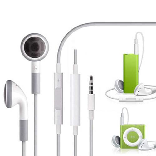 適用於蘋果MP3夾子ipod shuffle線控耳機3細雨4 5 6線控可調音量