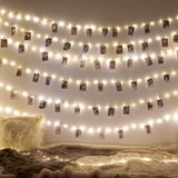 ins LED string room photo wall rope clip girl's mind chic decoration quarters