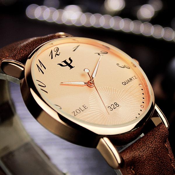 商务简约休闲手表潮款男女表学生优雅玫瑰金情侣一对款女手表