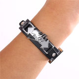 Anime Accessories Jewelry Fairy Tail Logo Alloy Leather PU Bracelet Bracelet