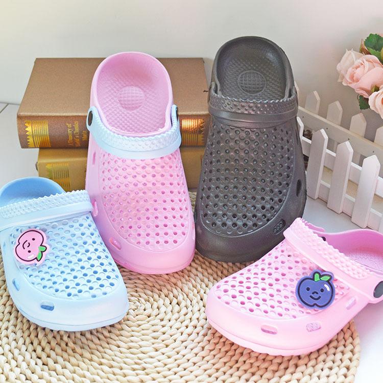 情侶洞洞鞋夏季eva男女鞋透氣小孔涼拖輕便花園情侶防滑沙灘涼鞋