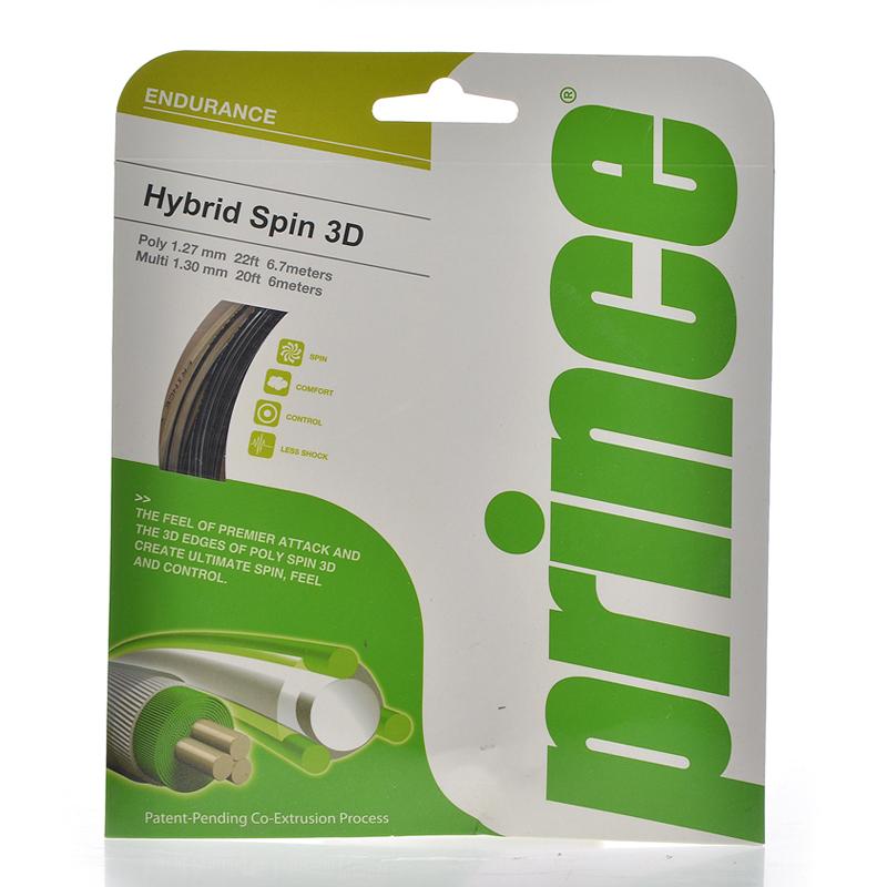 正品Prince 王子網球線Hybrid Spin 3D String子母線 網球線旋轉