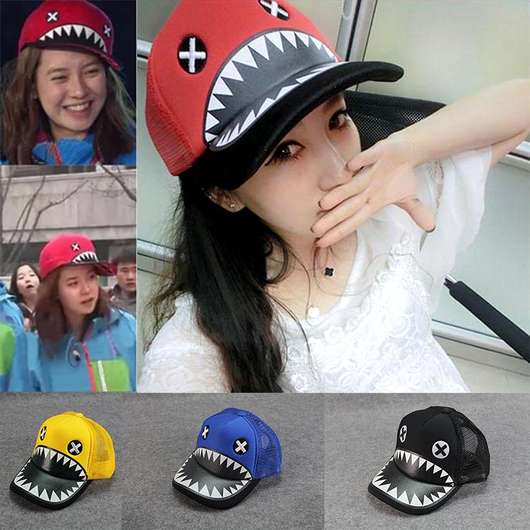夏季親子款鯊魚嘴網眼帽鴨舌帽秋天女寶寶棒球帽兒童男童潮寶帽子