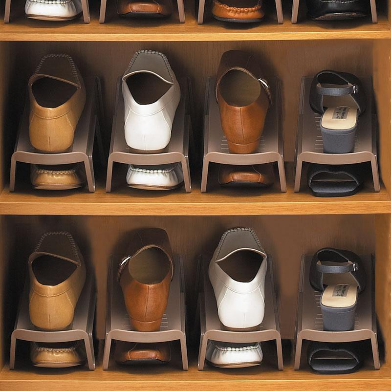 日本進口收納鞋架雙層鞋托架宿舍神器鞋櫃整理放鞋子拖鞋收納架