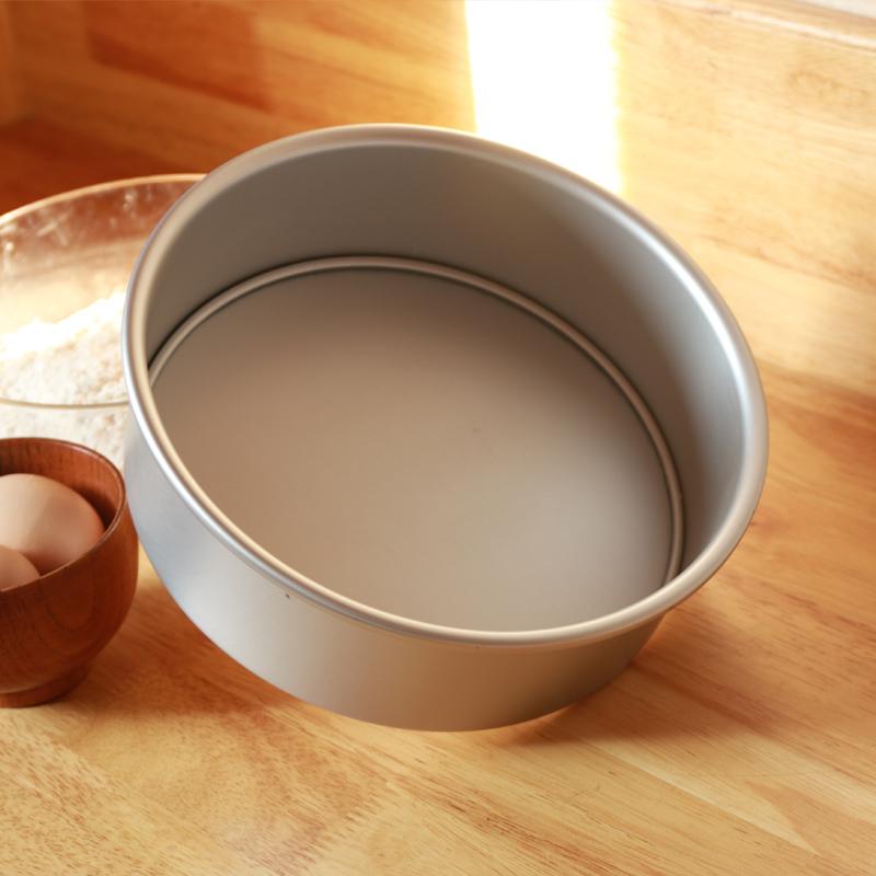 鋁製活底圓形戚風蛋糕模具5寸8寸9寸烘焙工具乳酪西點模具烤箱用