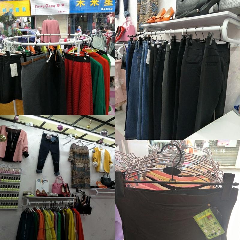 现货10支装金属黑色裤夹不锈钢色服装店裤架家用伸缩晾衣内衣夹