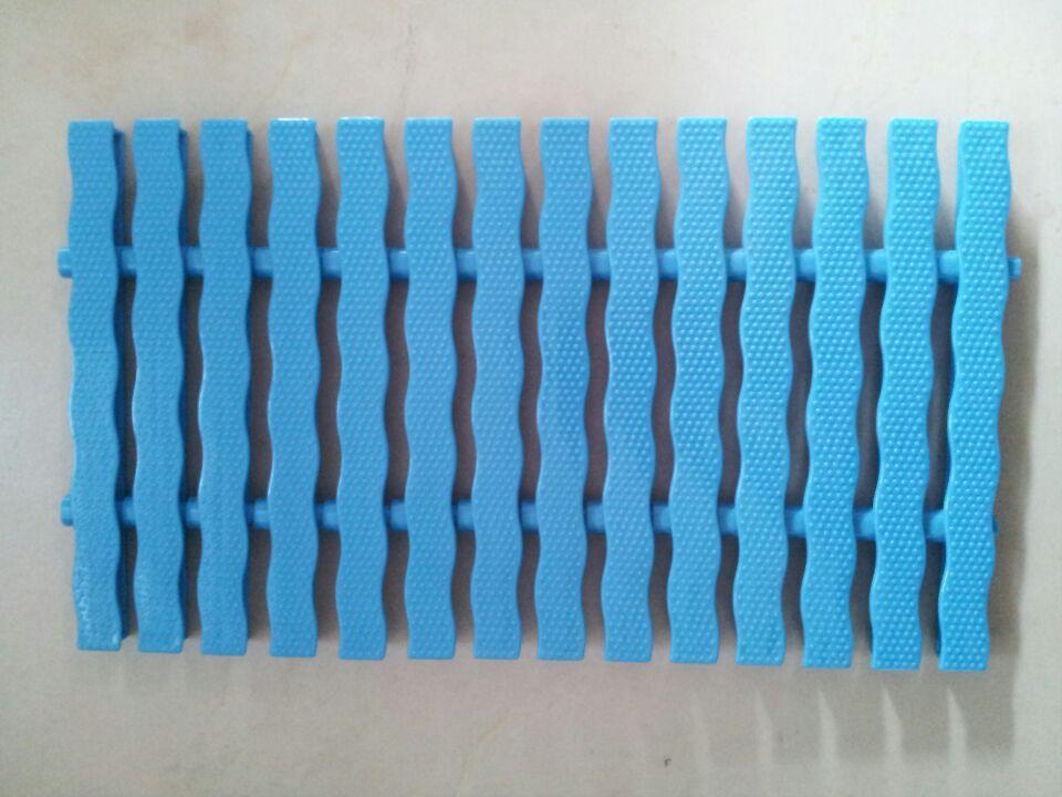 泳池格柵 浴池排水篦子abs渠蓋防滑兩插藍色可轉彎蓋板溢水溝配件