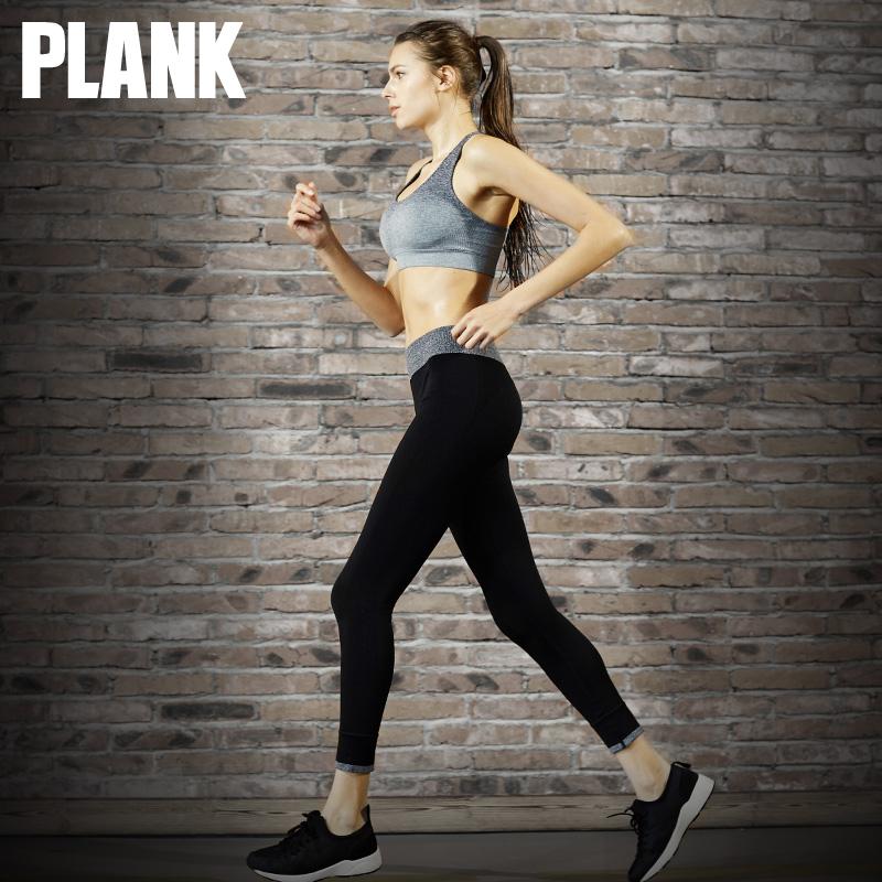 比瘦PLANK 运动裤女九分裤弹力显瘦瑜伽紧身美体健身裤长裤跑步裤