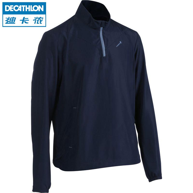 INESIS 高尔夫男士夹克防水防风外套轻盈雨衣可折叠易收纳 迪卡侬