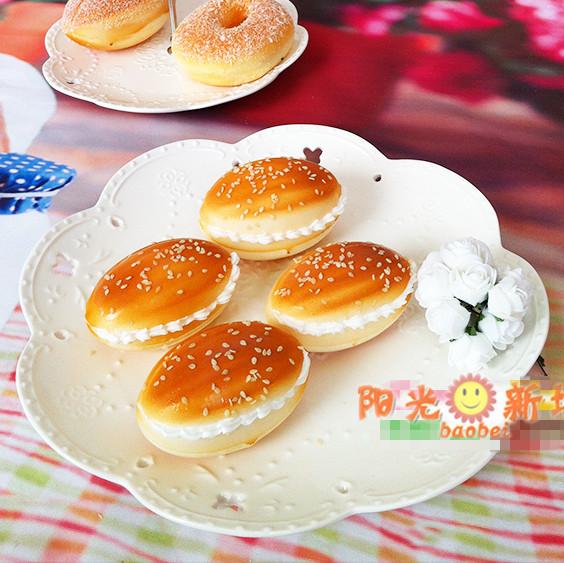 儿童过家家仿真面包三明治模型厨房玩具幼儿园桌面玩具假食物食品