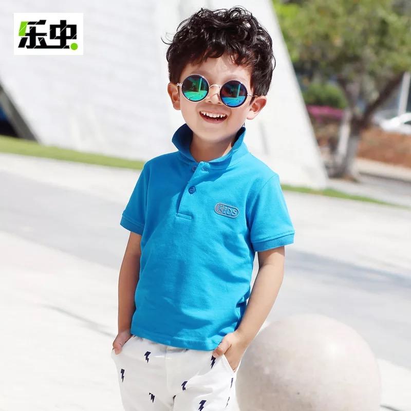 男童短袖T恤夏装韩版儿童翻领POLO衫童装2019新款宝宝小童3-5-6岁