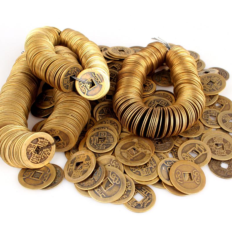 风水纯铜仿清代真品古币散钱挂件五帝散钱六帝钱乾隆通宝小号单枚