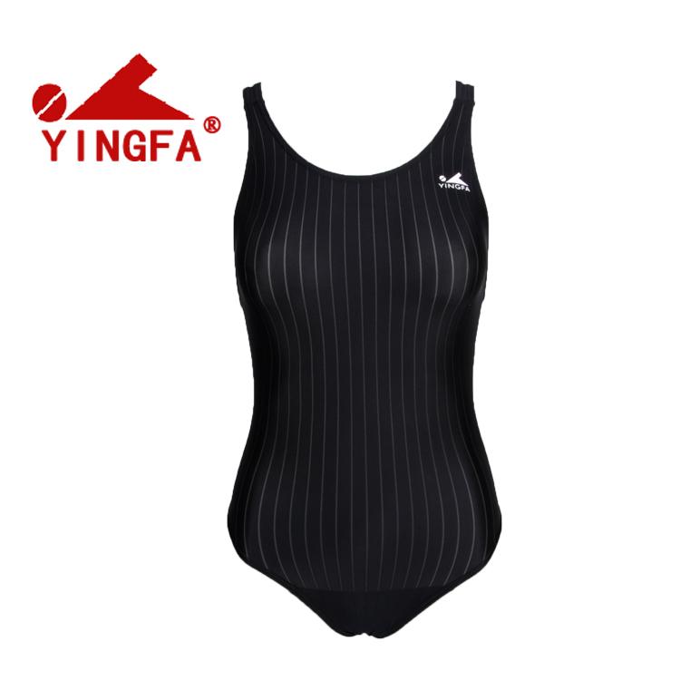 英发922连体三角游泳衣女比赛训练竞赛泳衣成人儿童无胸垫938