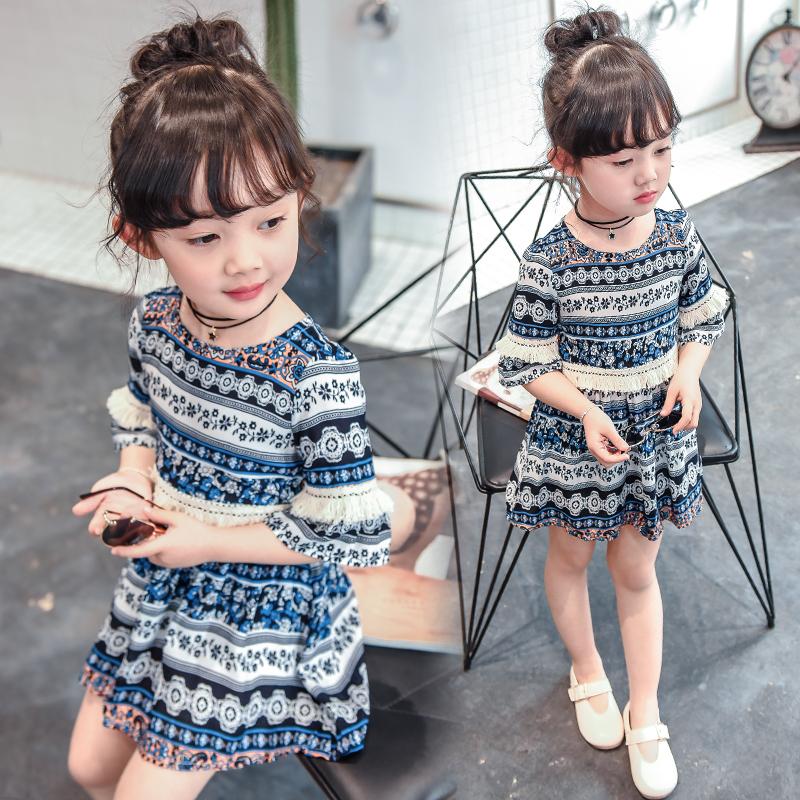 女童夏装2019新款3童装4女孩雪纺裙子5宝宝洋气6岁儿童公主连衣裙