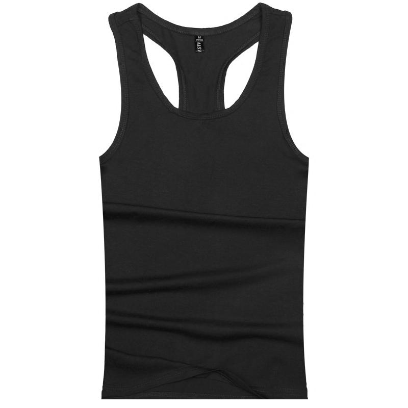 艾诗·祺背心男夏季男士纯色棉打底紧身运动健身无袖T恤工字背心