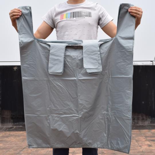 超大號加厚80黑色灰色環衛物業特大垃圾袋商用背心袋手提式塑料袋