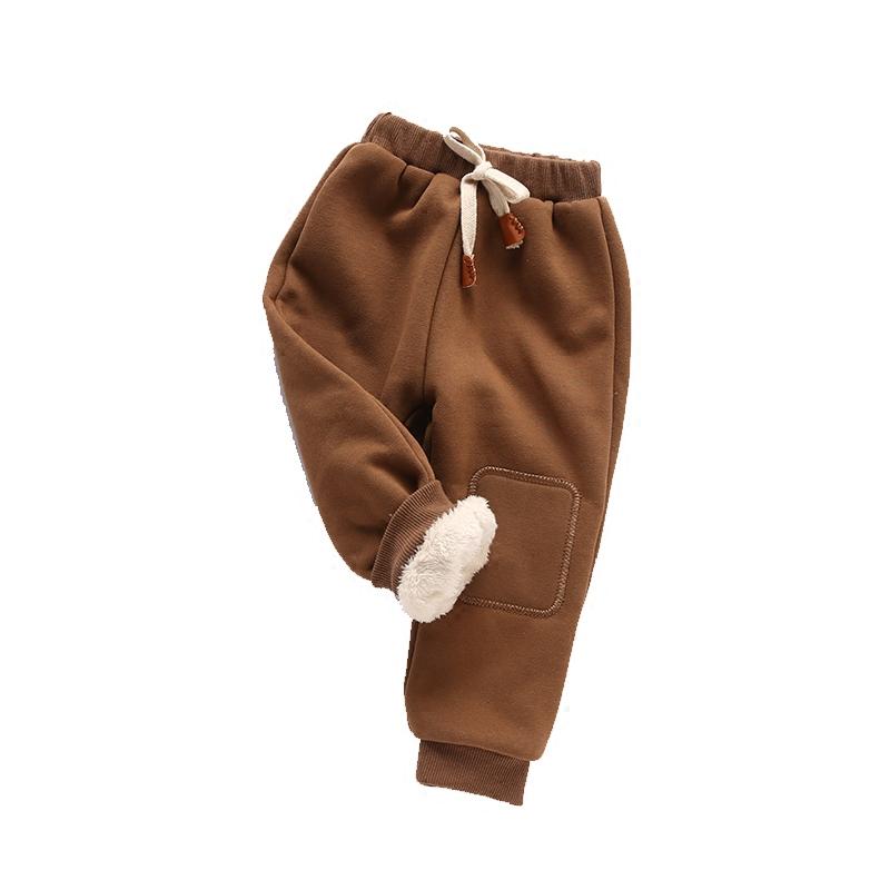 1-3-6岁宝宝棉裤男童秋冬装保暖外裤小童加厚裤子儿童加绒休闲裤