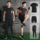 Lu Yifan fitness running sports suit basketball quick-drying clothes gym short-sleeved morning running training clothing male autumn and summer