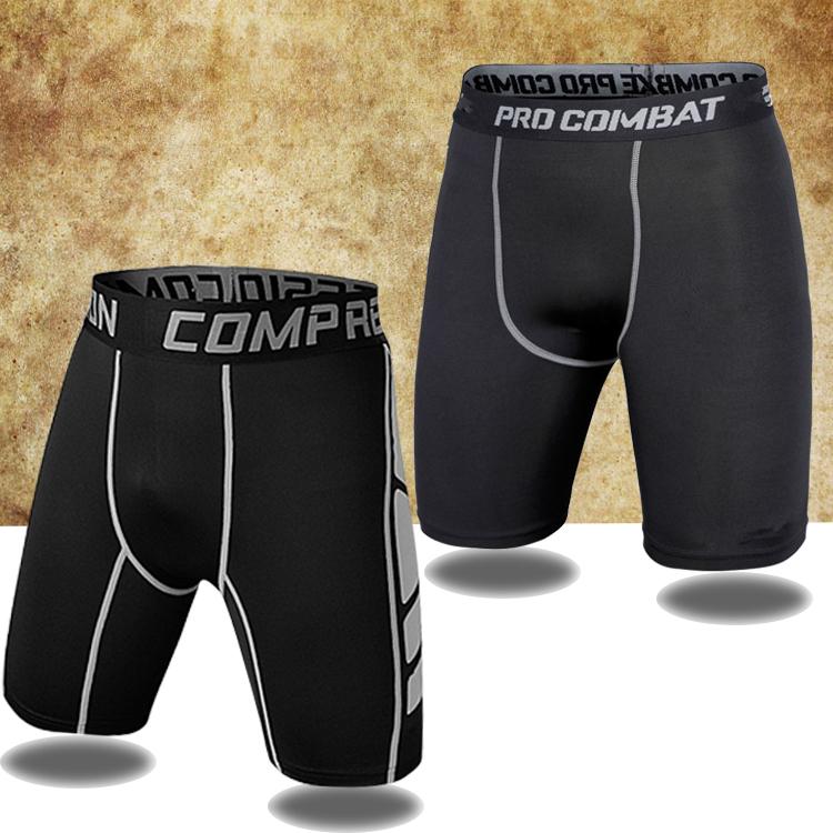 打底pro籃球運動緊身短褲男田徑足球五分褲健身訓練高彈透氣套裝