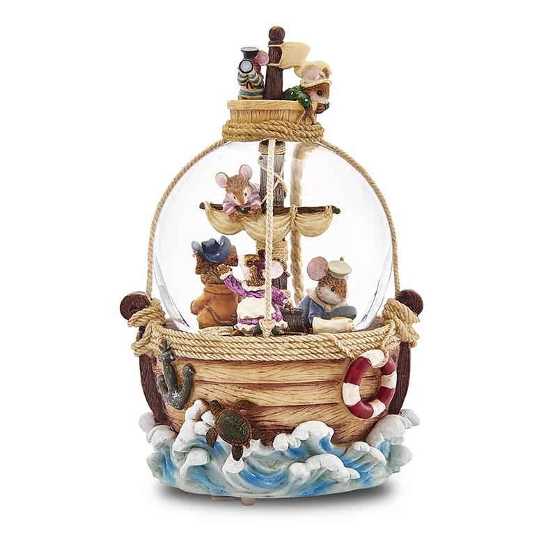 探险水晶球音乐盒旋转雪花八音盒七夕情人节生日礼物送女生 JARLL