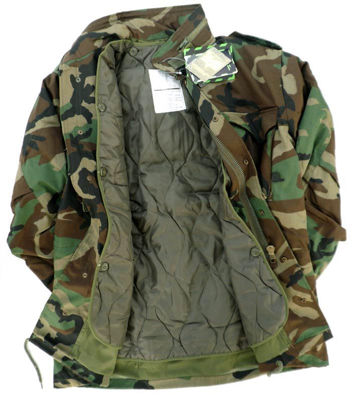 美國軍迷叢林迷彩M65風衣防風戰術大衣保暖外套送內膽冬裝棉服男